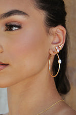 Catch their Eye Opal and Crystal Stud Drop Earrings