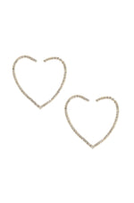 Open Your Heart Crystal 18k Gold Plated Hoop Earrings