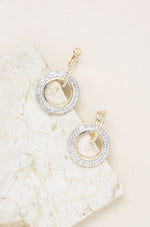 Double Drop Crystal Hoop Earrings