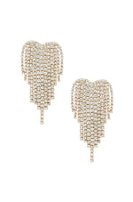 Gala Crystal Fringe 18k Gold Plated Earrings on white background