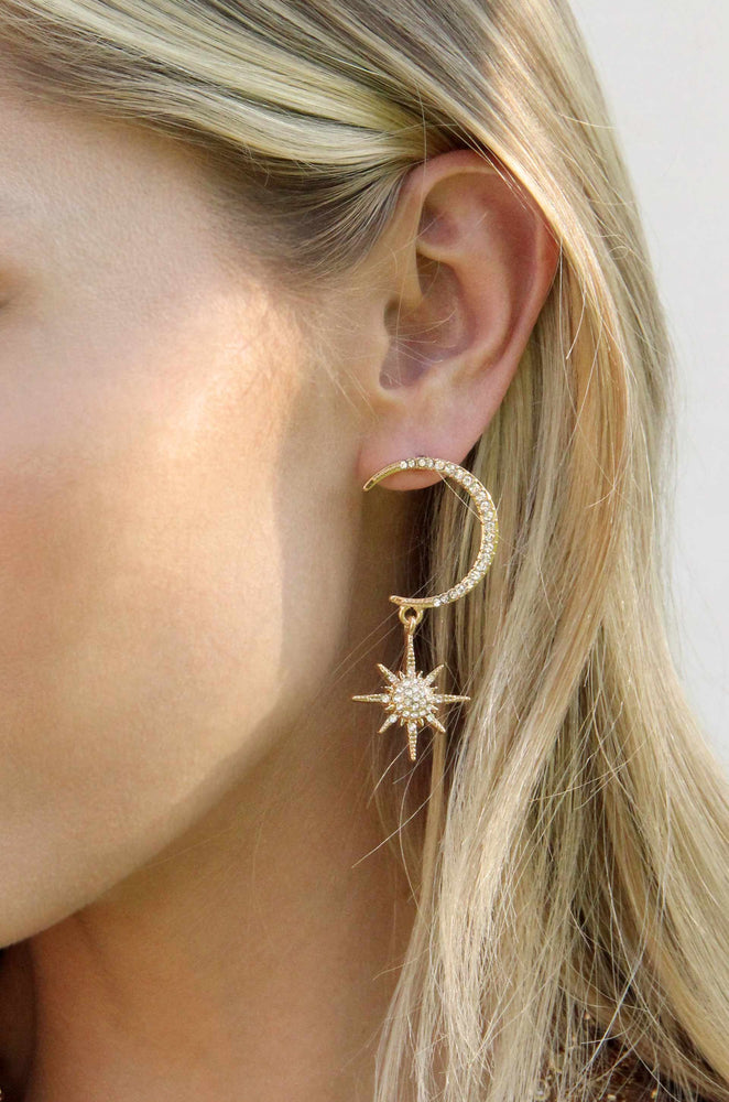 Celestial Spotlight 18k Gold Plated Earrings