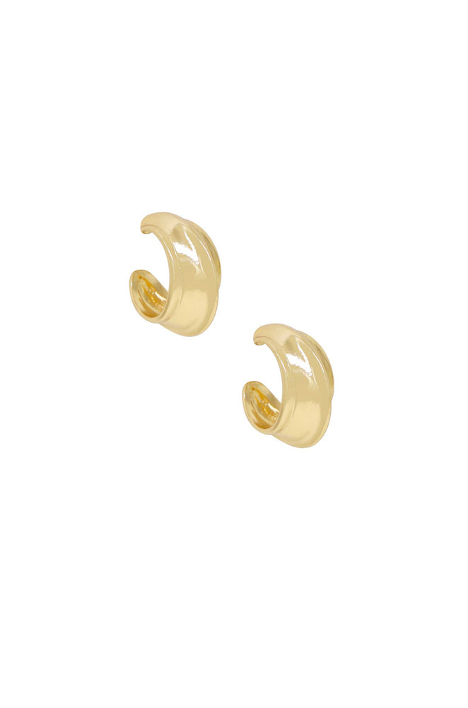 Simple Crescent 18k Gold Plated Earrings