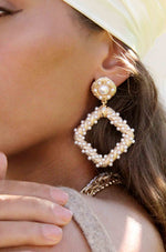 Pearl Knocker 18k Gold Plated Earrings