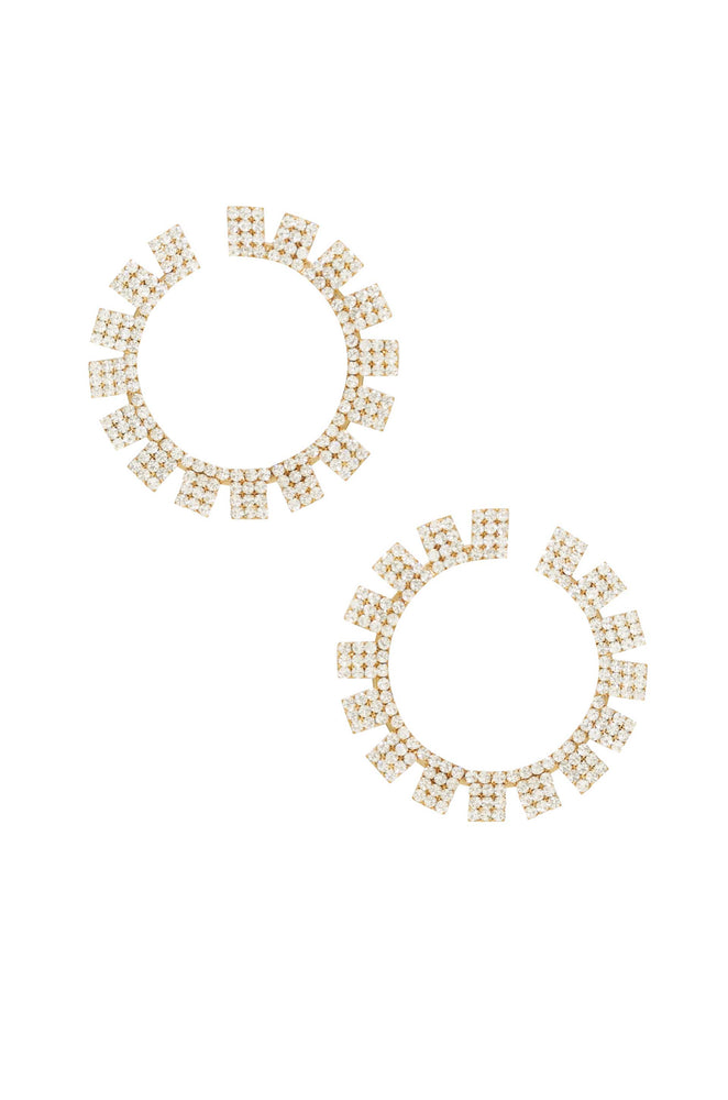 Crystal Sunbeam 18k Gold Plated Earrings
