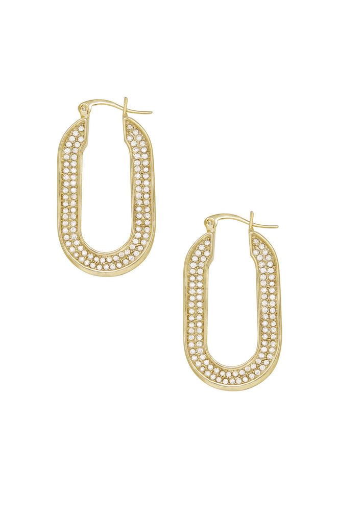 Crystal Spotlight 18k Gold Plated Hoops