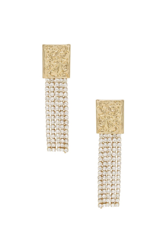 Stand Out Crystal 18k Gold Plated Dangle Earrings
