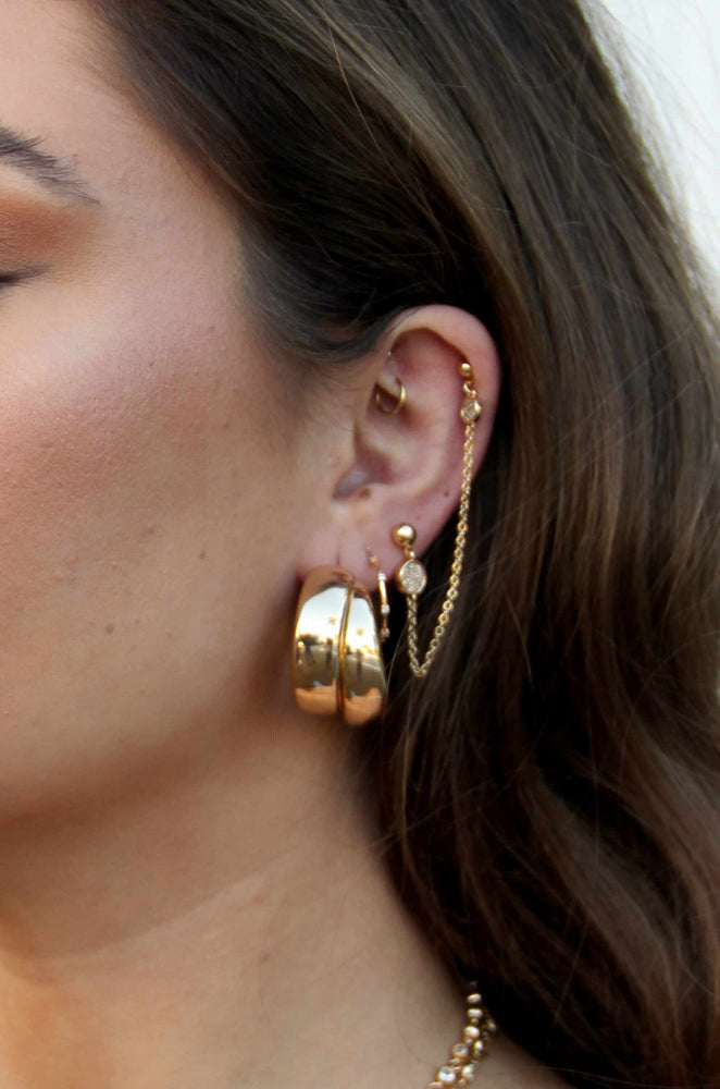 Necessary Accessory 18k Gold Plated Hoop Earrings