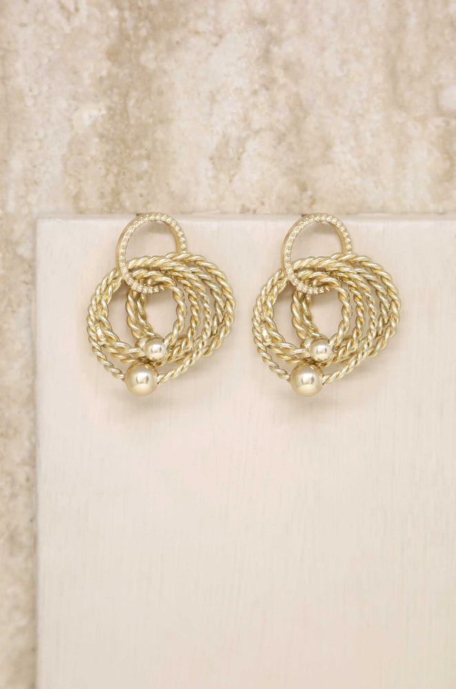 Jingle Dangle 18k Gold Plated Hoops