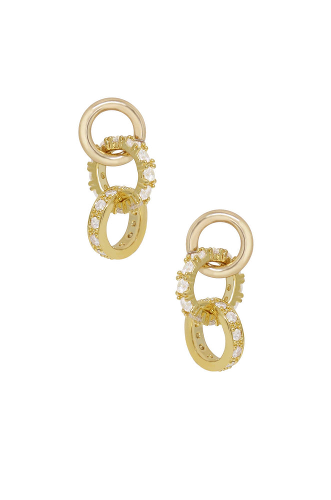 Elegant Baby 18k Gold Plated Crystal Dangle Earrings