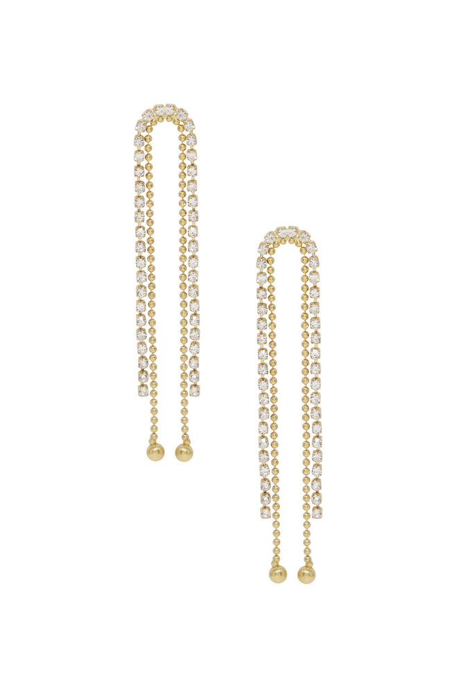 Crystal Rope Epic Dangle 18k Gold Plated Earrings