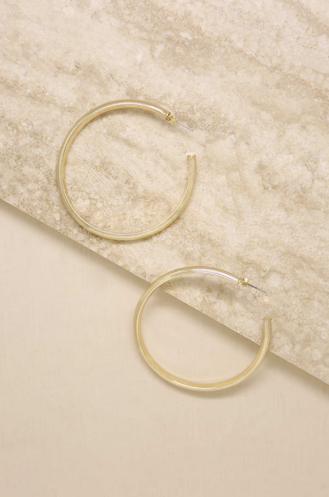 Your Essential 18k Gold Plated Hoop Earrings