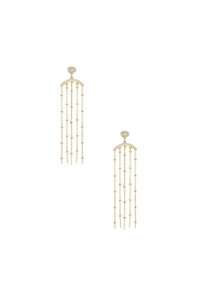 In the Spotlight Crystal Dangle 18k Gold Plated Earrings