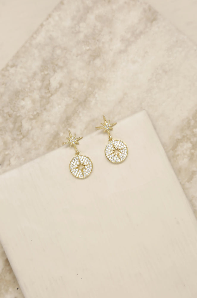 Crystal Eclipse 18k Gold Plated Earrings