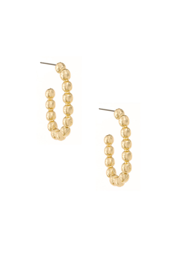 Golden Bauble 18k Gold Plated Hoop Earrings on white background