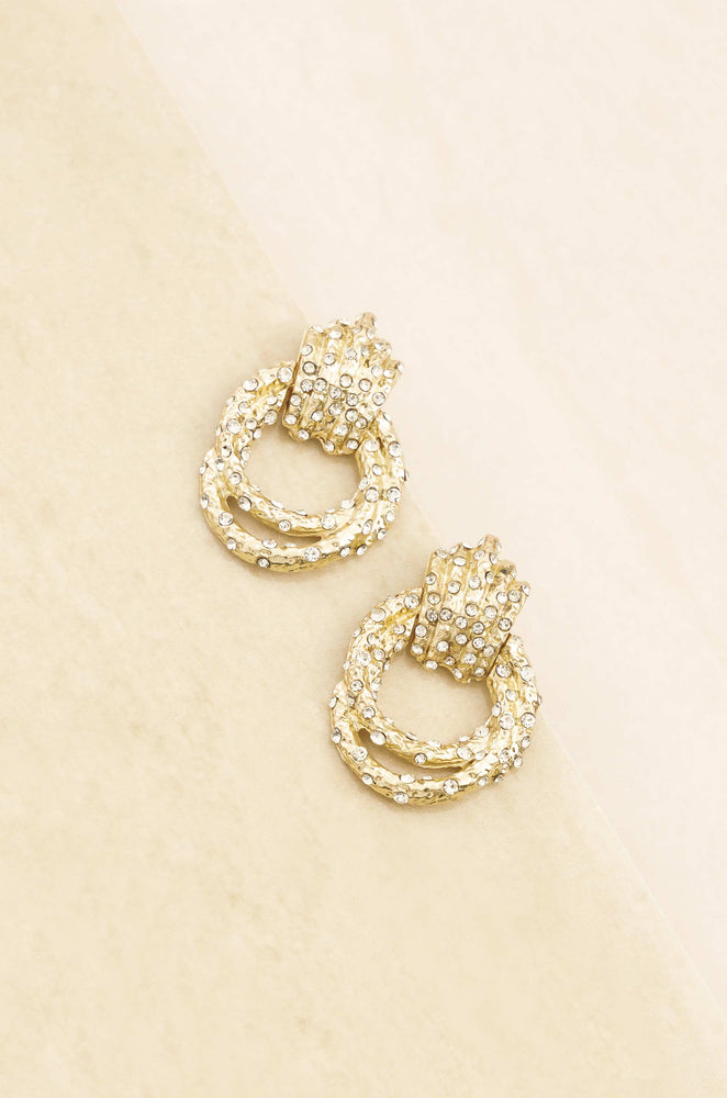 Only Royalty 18k Gold Plated Crystal Earrings