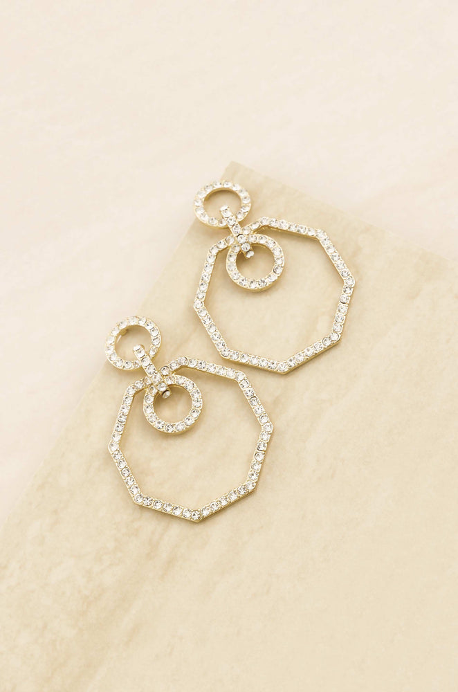 Crystal Show Stopping 18k Gold Plated Statement Earrings