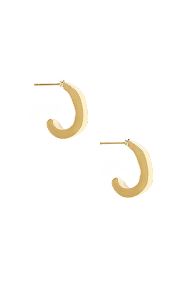 Miss Modern Mini 18k Gold Plated Half Hoops