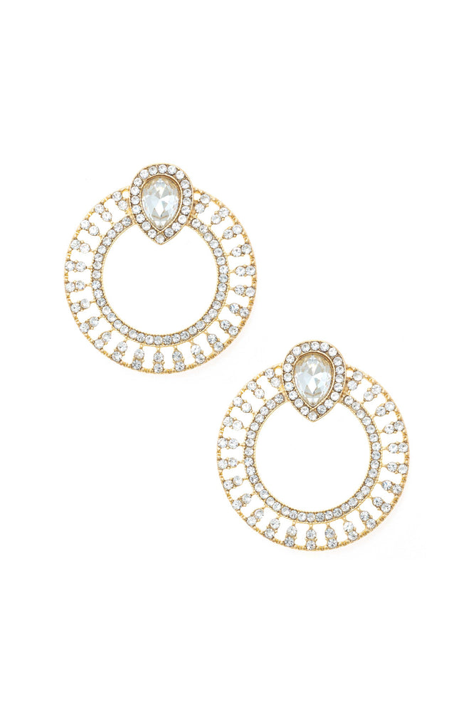 Glitter and Shine 18k Gold Plated Circle Earrings