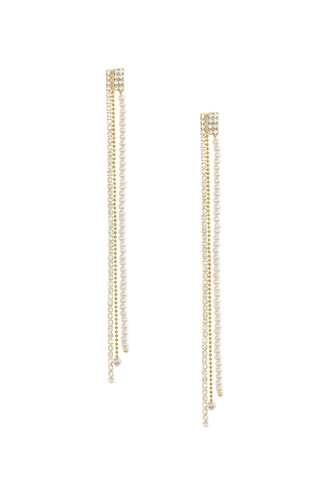 Fireworks Crystal Dangle 18k Gold Plated Earrings
