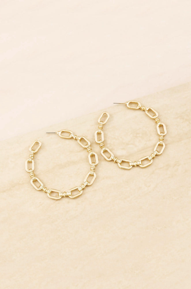 Geometry 18k Gold Plated Hoop Earrings