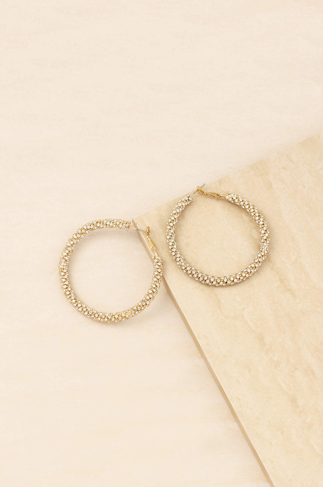 Rope Chain 18k Gold Plated Hoops