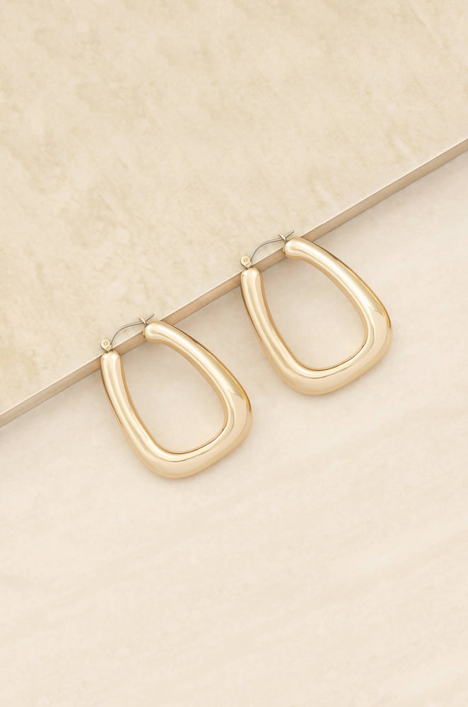 Everyday Boss 18k Gold Plated Hoop Earrings