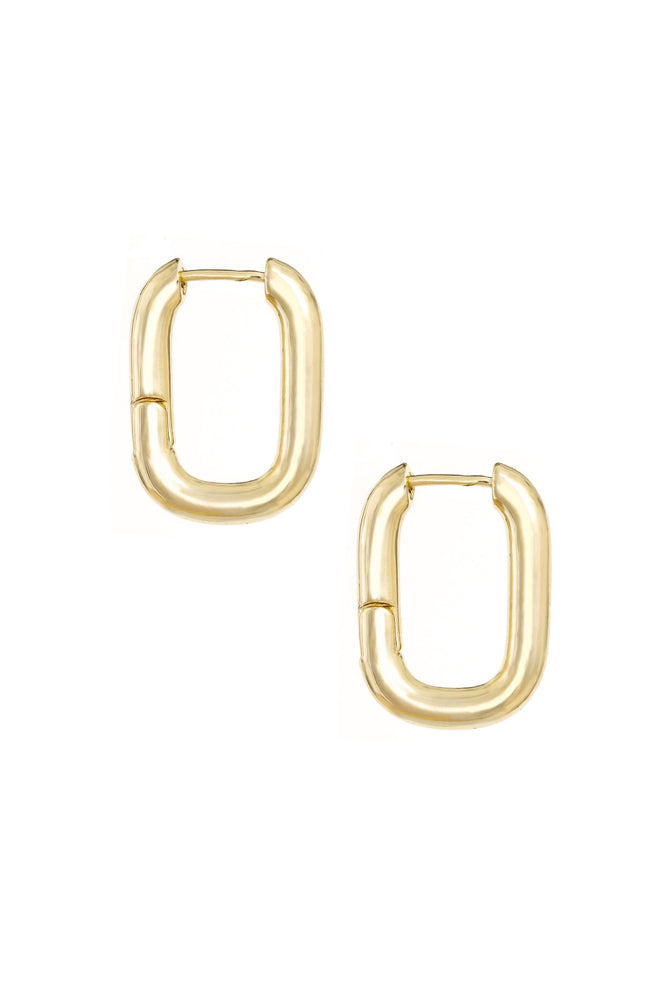 Mini Shapes 18k Gold Plated Hoop Earrings on white background
