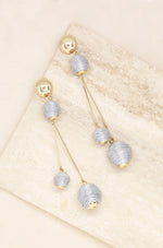 Globetrotter Earrings in Silver and Gold