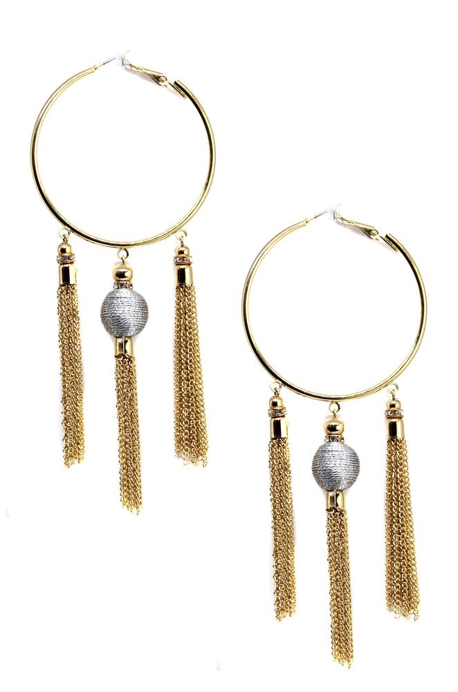 Golden Nebula Earrings in Silver and Gold