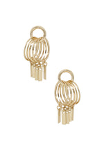 Mini Jingle Bar Charms & 18kt Gold Plated Stud Hoops
