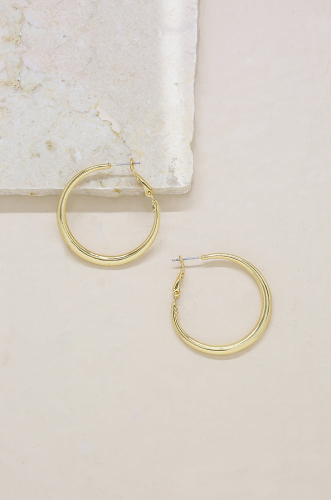 Easy Hoops in Gold