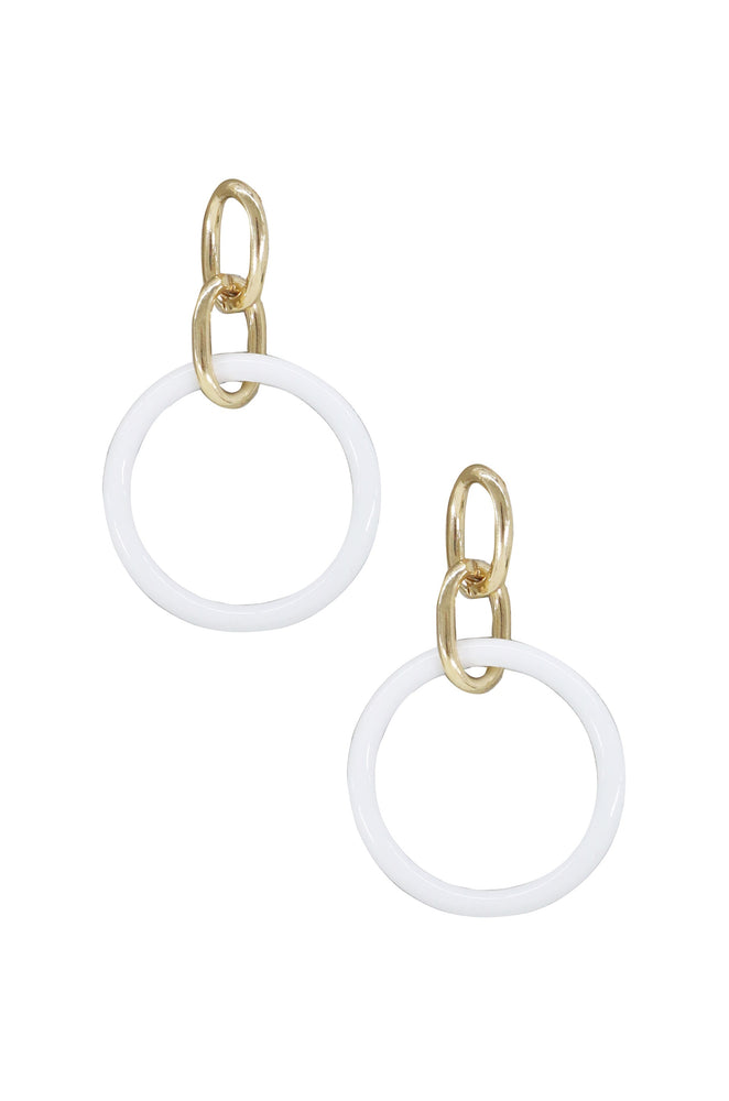 Be True Earrings in White and Gold