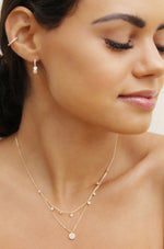Mini Sparkler Crystal 18k Gold Plated Ear Cuff
