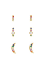 Celestial Rainbow Crystal Stud Set