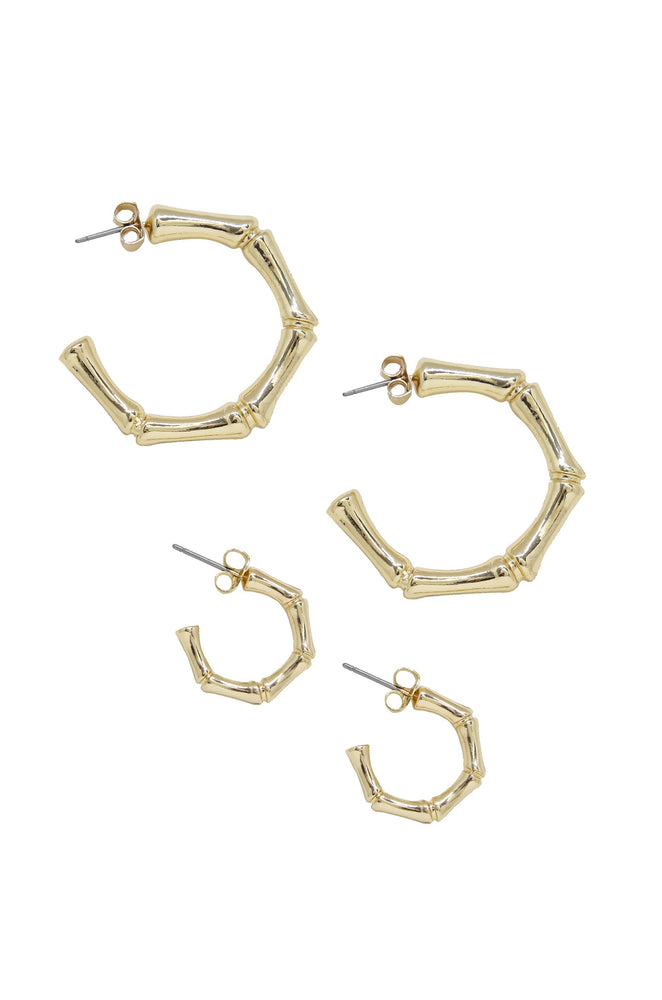 Golden Reign Hoop Earring Set