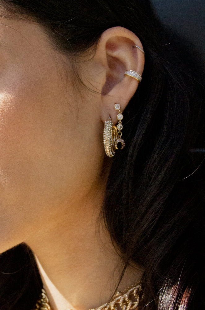 The Weekday Set 18k Gold Plated and Crystal Earring Set of 5