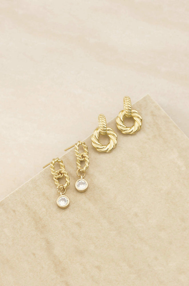 Twisted Minis 18k Gold Plated Earring Set