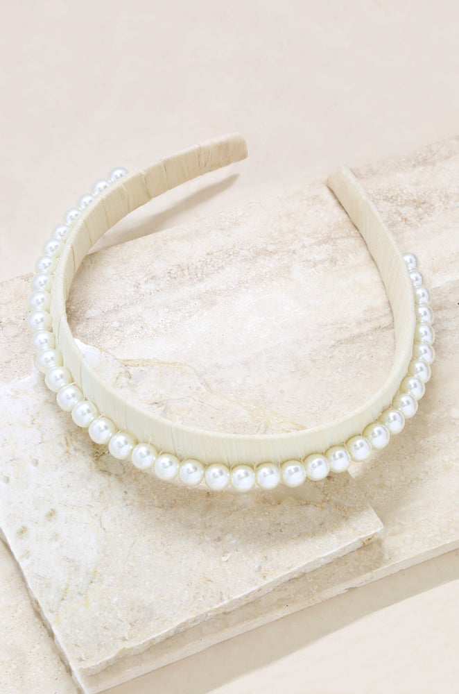 Classic Cream and Pearl Headband