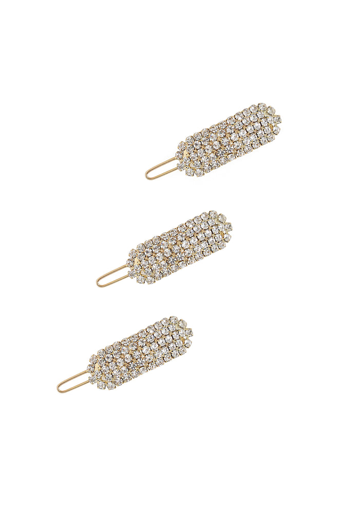 Crystal Droplet Barrette Set