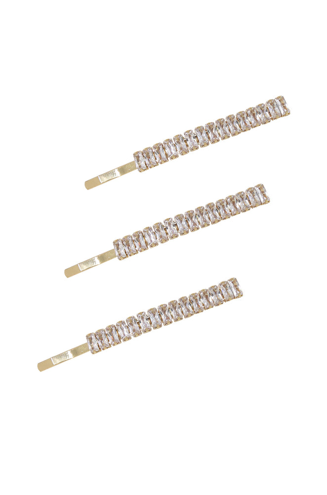 Narrow Crystal Roads Hair Pin Set
