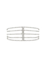 Rhinestone Multi-Chain Headband in Silver