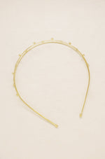 Delicate Crystal Dotted Gold Headband
