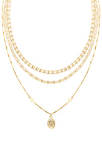 Mixed Layers 18k Gold Plated Necklace