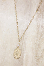 Holy Coin Necklace in Gold