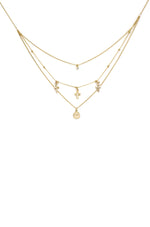Pray it Forward 18k Gold Plated Layered Cross Necklace