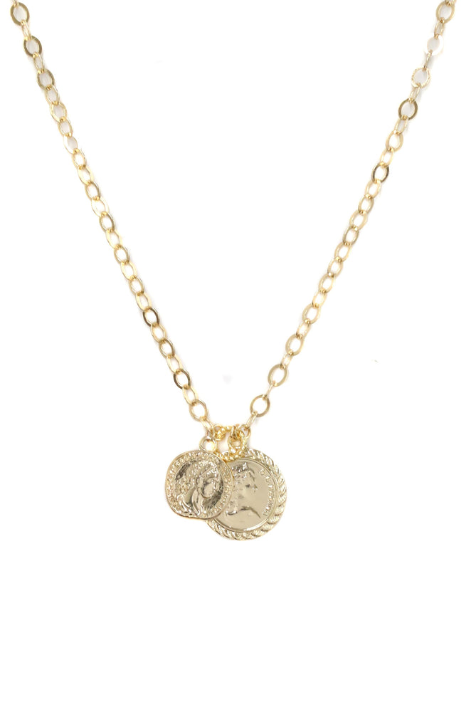 The Adventurer Double Gold Coin Necklace
