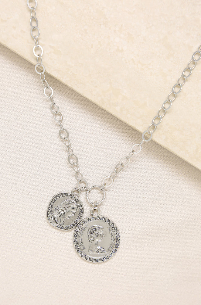 The Adventurer Double Coin Necklace