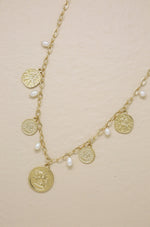 Treasure Hunter Gold Coin and Pearl Necklace