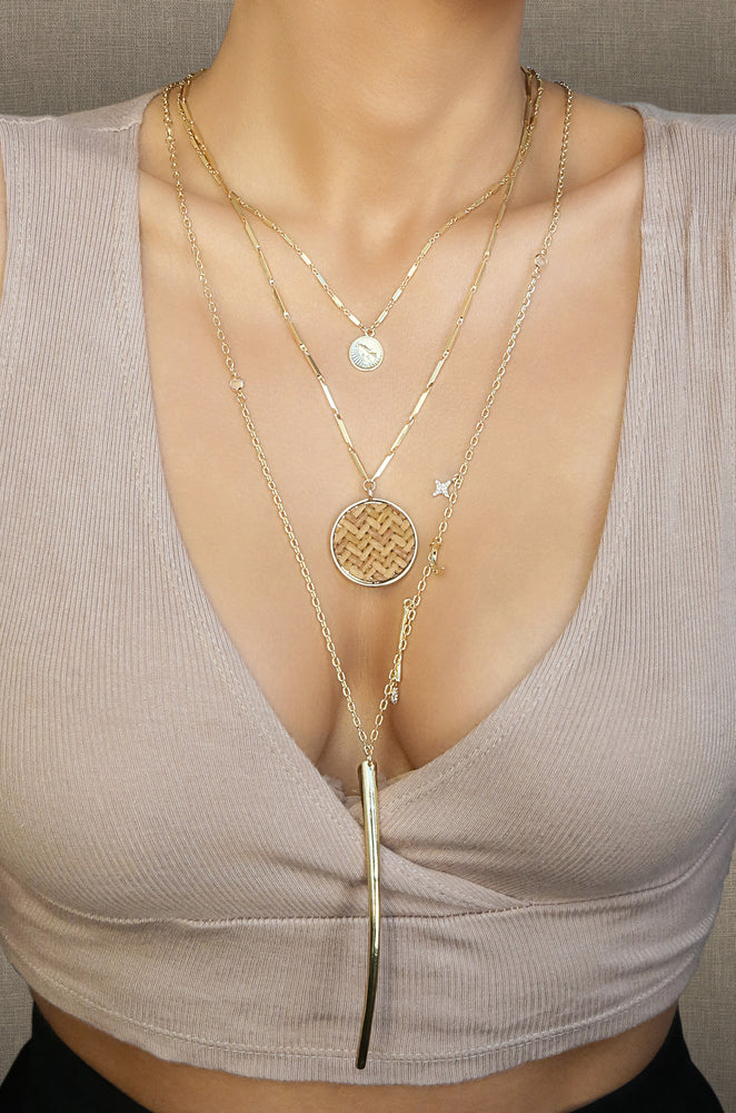 Boho Treasures Necklace Set in Gold