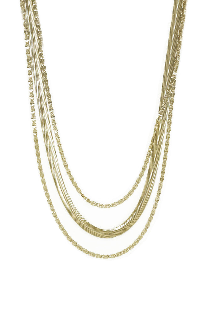 Supreme Mixed Chain 18k Gold Plated Layered Necklace
